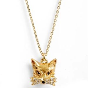 NWT Kate Spade So Foxy Gold-Tone Fox Necklace